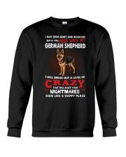 If You Mess With My German Shepherd Crewneck Sweatshirt thumbnail