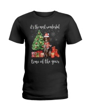 The Most Wonderful Xmas German Shorthaired Pointer Ladies T-Shirt thumbnail