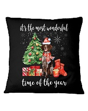 The Most Wonderful Xmas German Shorthaired Pointer Square Pillowcase thumbnail