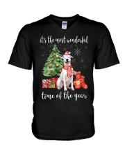 The Most Wonderful Xmas - Dogo Argentino V-Neck T-Shirt thumbnail