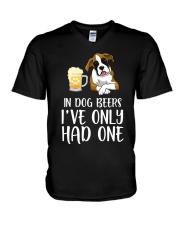 In Dog Beers I've Only Had One - Boxer V-Neck T-Shirt thumbnail