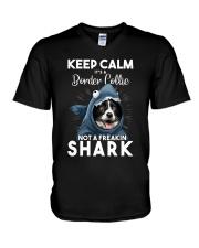 It's A Border Collie Not A Freakin Shark V-Neck T-Shirt thumbnail