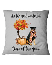 The Most Wonderful Time - Rottweiler Square Pillowcase thumbnail