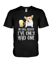 In Dog Beers I've Only Had One - Corgi V-Neck T-Shirt thumbnail