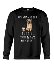 Puggle Coffee and Naps Crewneck Sweatshirt thumbnail