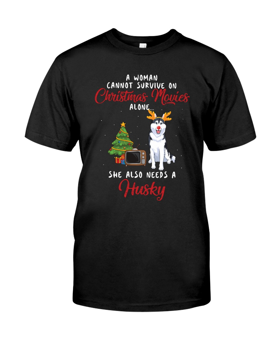 Christmas Movies and Husky Classic T-Shirt