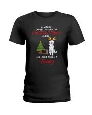 Christmas Movies and Husky Ladies T-Shirt thumbnail