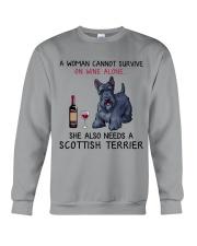Wine and Scottish Terrier 2 Crewneck Sweatshirt thumbnail