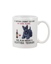 Wine and Scottish Terrier 2 Mug thumbnail