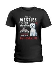 My Westies - My Children Ladies T-Shirt thumbnail