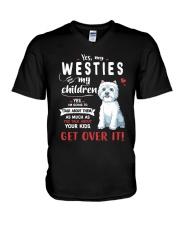 My Westies - My Children V-Neck T-Shirt thumbnail