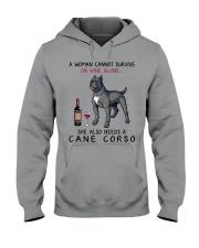 Wine and Cane Corso 4 Hooded Sweatshirt thumbnail