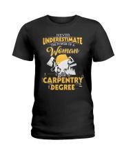 Woman Carpenter Ladies T-Shirt thumbnail