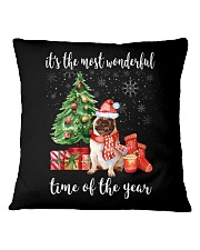 The Most Wonderful Xmas - Pug Square Pillowcase front