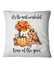 The Most Wonderful Time - Owl Square Pillowcase tile