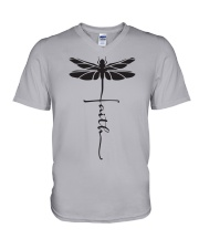 Dragonfly Faith V-Neck T-Shirt thumbnail