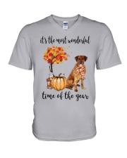 The Most Wonderful Time - Rhodesian Ridgeback V-Neck T-Shirt thumbnail
