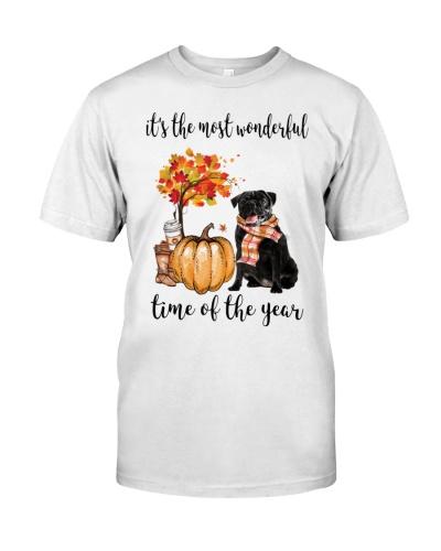 The Most Wonderful Time - Black Pug