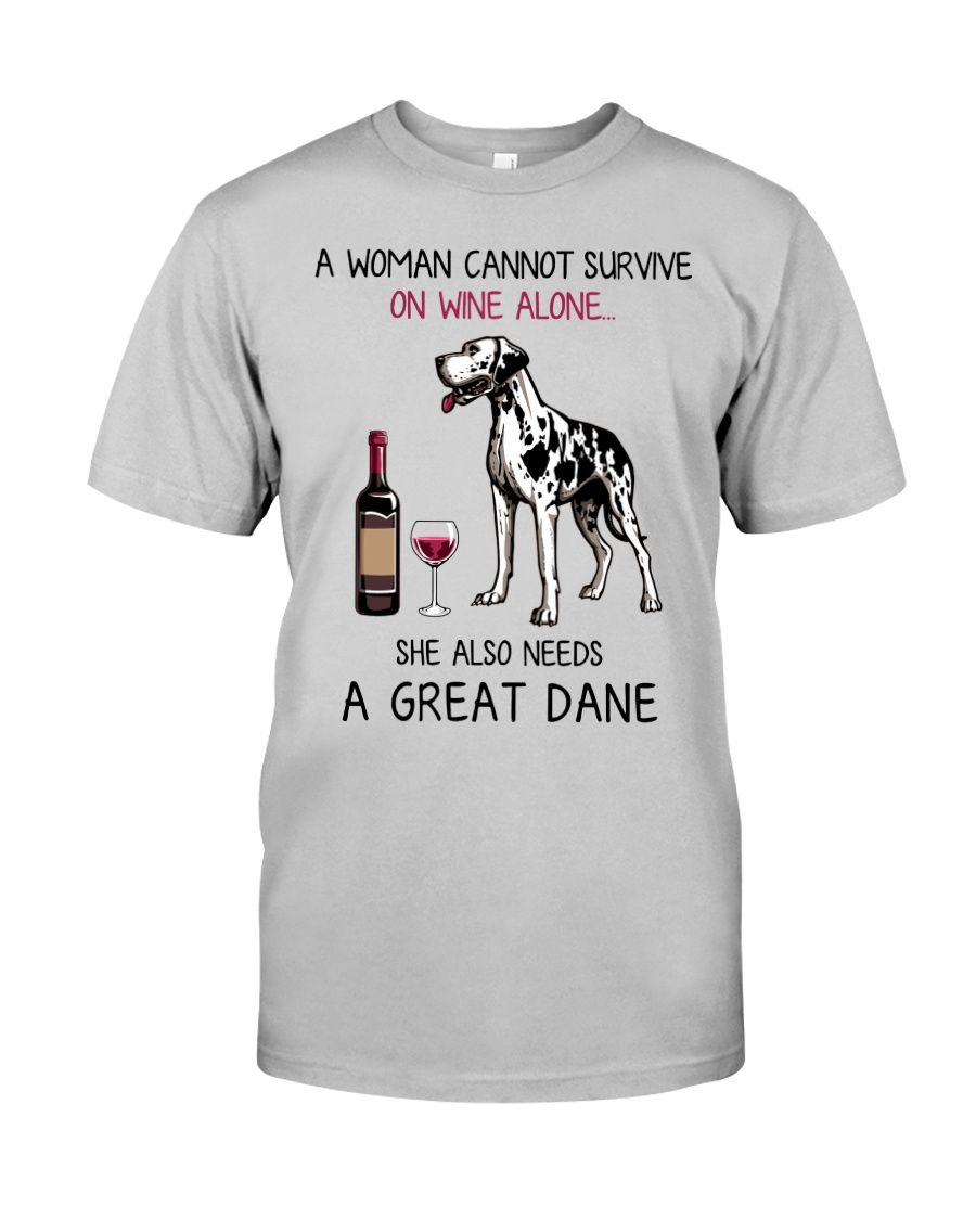 Wine and Great Dane 2 Classic T-Shirt
