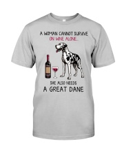 Wine and Great Dane 2 Classic T-Shirt front