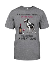 Wine and Great Dane 2 Classic T-Shirt tile