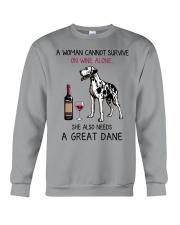 Wine and Great Dane 2 Crewneck Sweatshirt thumbnail