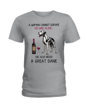Wine and Great Dane 2 Ladies T-Shirt thumbnail