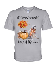 The Most Wonderful Time - Central Asian Shepherd V-Neck T-Shirt thumbnail