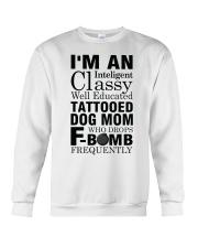 Tattooed Dog Mom 2 Crewneck Sweatshirt thumbnail