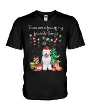 A Few of My Favorite Things - Old English Sheepdog V-Neck T-Shirt thumbnail