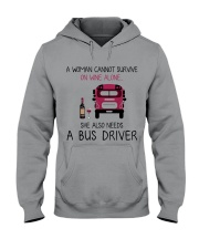 Wine and A Bus Driver 2 Hooded Sweatshirt thumbnail