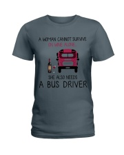 Wine and A Bus Driver 2 Ladies T-Shirt thumbnail