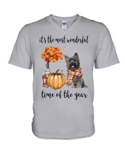 The Most Wonderful Time - Cairn Terrier V-Neck T-Shirt thumbnail