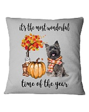 The Most Wonderful Time - Cairn Terrier Square Pillowcase thumbnail