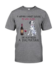 Wine and Dalmatian 2 Classic T-Shirt front