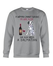 Wine and Dalmatian 2 Crewneck Sweatshirt thumbnail