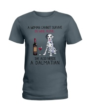 Wine and Dalmatian 2 Ladies T-Shirt thumbnail