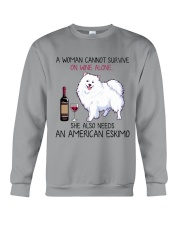 Wine and American Eskimo 2 Crewneck Sweatshirt thumbnail