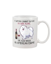 Wine and American Eskimo 2 Mug thumbnail