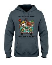 On A Dark Desert Highway - Horses Hooded Sweatshirt thumbnail
