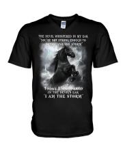 Horse The Storm V-Neck T-Shirt thumbnail