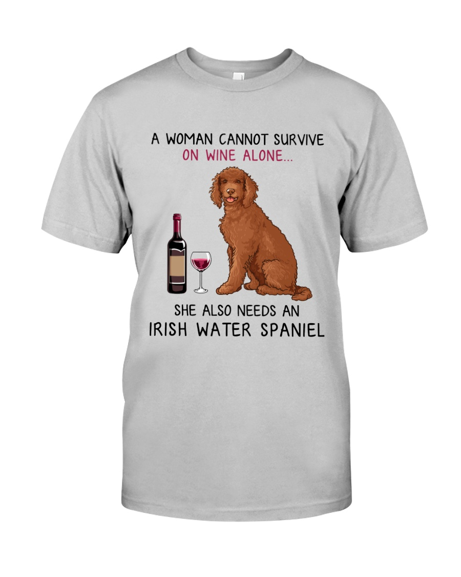 Wine and Irish Water Spaniel 2 Classic T-Shirt