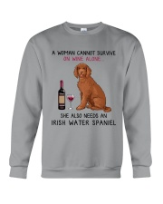 Wine and Irish Water Spaniel 2 Crewneck Sweatshirt thumbnail