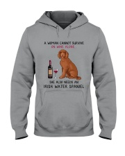 Wine and Irish Water Spaniel 2 Hooded Sweatshirt thumbnail