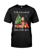 The Most Wonderful Xmas - Goldendoodle Classic T-Shirt front