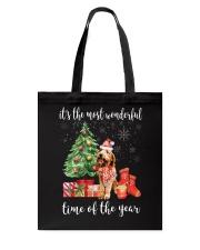 The Most Wonderful Xmas - Goldendoodle Tote Bag thumbnail