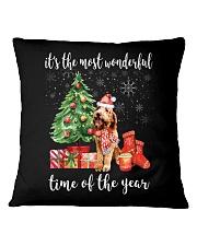 The Most Wonderful Xmas - Goldendoodle Square Pillowcase thumbnail