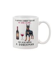 Wine and Doberman 2 Mug thumbnail