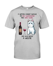 Cannot Survive Alone - Westie Classic T-Shirt tile
