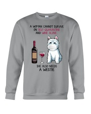 Cannot Survive Alone - Westie Crewneck Sweatshirt thumbnail